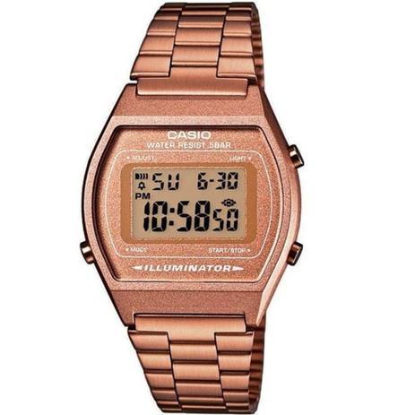 cb9f355df45 Relógio Feminino Casio Vintage Digital B640WC-5ADF - Rosê - Relógio ...