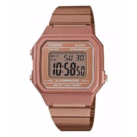 25471f89af6 Relógio Feminino Casio Vintage Digital B650WC-5ADF - Rose - Relógio ...