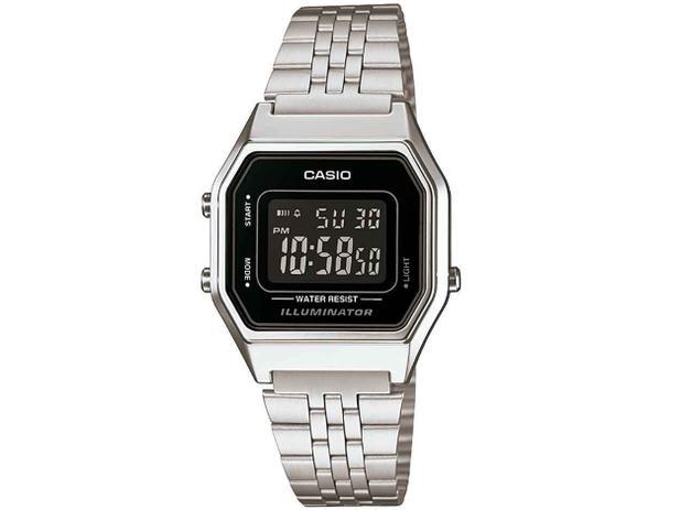 Relógio Feminino Casio Vintage LA680WA-1BDF - Digital Resitente à Água  Calendário 073f84a7d7