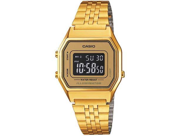 0fb0be9cb60 Relógio Feminino Casio Vintage LA680WGA-9BDF - Digital Resitente à Água  Calendário