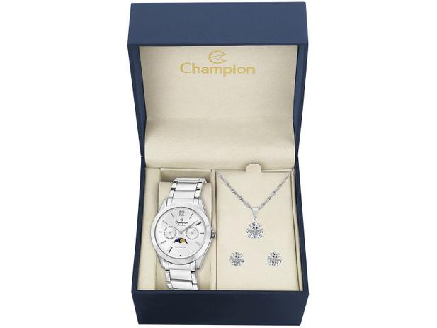5799dcb1559 Relógio Feminino Champion Analógico - CH38271D com Bijouteria ...