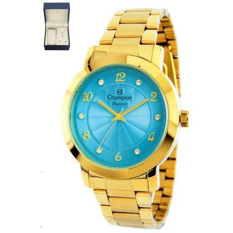99e7a3da8ef Relogio feminino champion dourado cn26573y - Relógio Feminino ...
