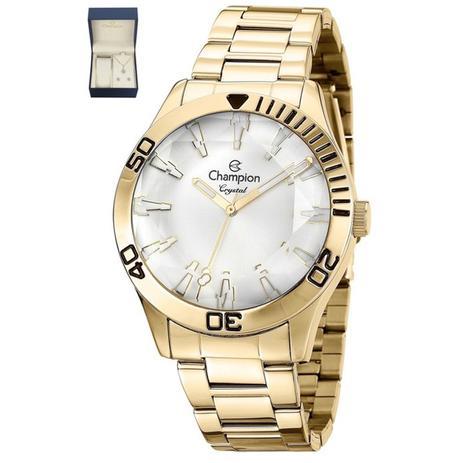 c12d68228 Relogio Feminino Champion Dourado CN27214W - Relógio Feminino ...