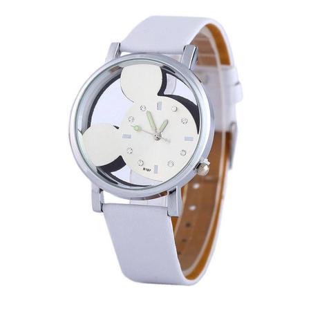 Relógio Feminino de Pulso Branco Mickey Mouse Transparente - Outras marcas 16da833388