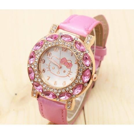 Relógio Feminino de Pulso Hello Kitty Rosa Bebê - Outras marcas ... 2d7c247315