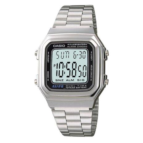 c1b88f98370 Relógio Feminino Digital A178wa1adf Prata - Casio - Relógio Feminino ...