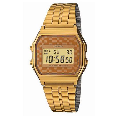 fdbe0e04690 Relógio Feminino Digital Casio A159WGEA-9ADF - Dourado - Casio ...
