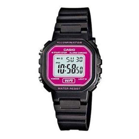 6630e66f568 Relógio Feminino Digital Casio LA-20WH-4ADF - Preto Lilás - Casio ...