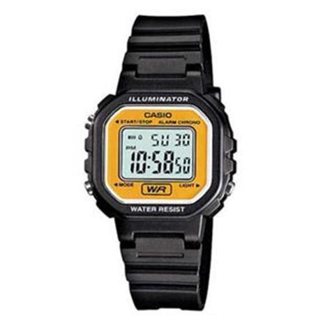 e974055624a Relógio Feminino Digital Casio LA-20WH-9ADF Preto Amarelo - Relógio ...