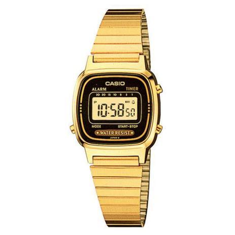 2c3cfe9365e Relógio Feminino Digital Casio LA670WGA1DF - Dourado - Casio ...