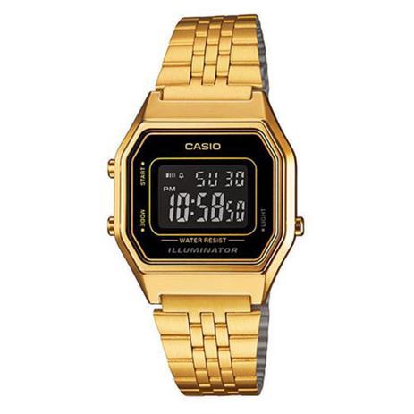 5f304961851 Relógio Feminino Digital Casio Vintage LA680WGA-1BDF - Dourado ...