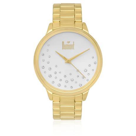 fb221b25693 Relógio Feminino Dumont Analógico DU2036LSQ K4K Dourado - Relógio ...