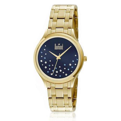 6e73090aa08 Relógio Feminino Dumont Analógico DU2036LST 4A Dourado - Relógio ...