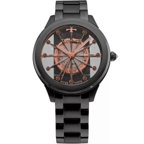 ac6d5f2e7f1 Relógio Feminino Essence Suiço Preto Technos F03101ac 4w - Relógio ...