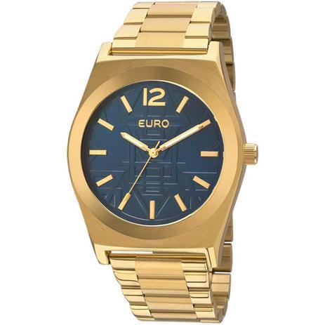 d905d18e1cb Relógio Feminino Euro Analógico Dourado - Eu2036jg 4a - Relógio ...