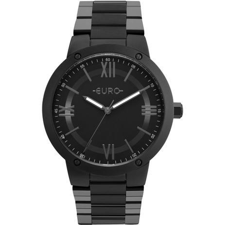 75422e943af Relógio Feminino Euro EU2035YMV 4P Pulseira Aço Preta - Relógio ...