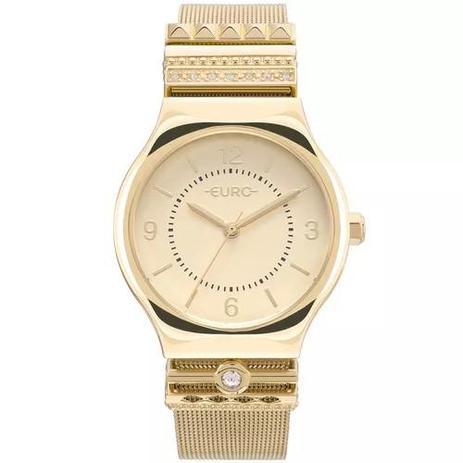 da786ed2c939a Relógio Feminino Euro EU2035YNL 4D Aço Dourado - Relógio Feminino ...