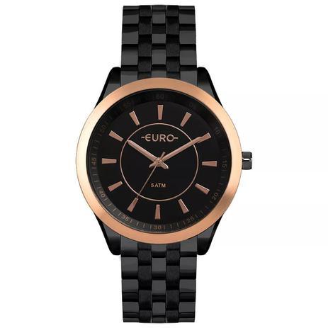 6ae48fd3743 Relógio Feminino Euro EU2035YOW 4P 43mm Aço Preto - Relógio Feminino ...