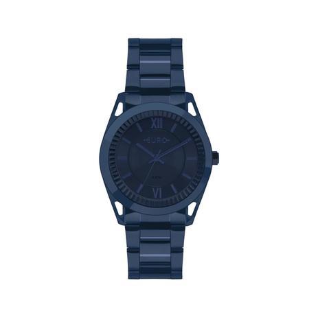 262ecb10c28 Relógio Feminino Euro EU2035YPQ 4A 38mm Aço Azul - Relógio Feminino ...