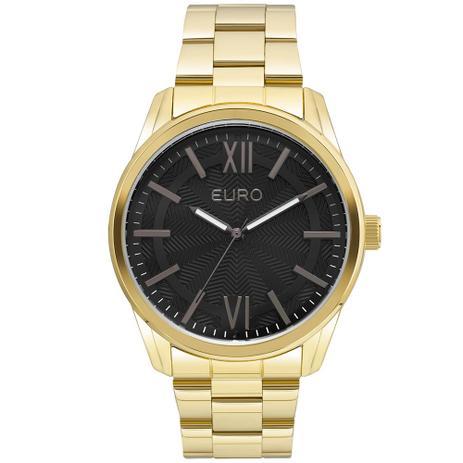 3246cdd32fa93 Relógio Feminino Euro EU2036LYB 4F 44mm Pulseira Aço Dourado ...