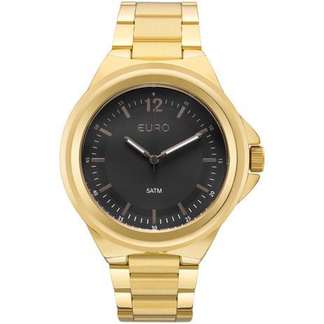Relógio Feminino Euro EU2039JC 4P Pulseira Aço Dourada - Relógio ... 138a6b3945