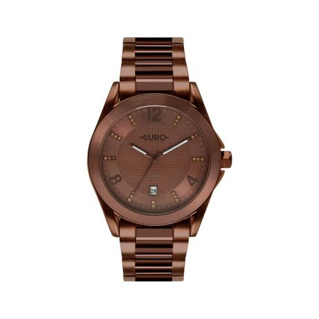 efd7e0fb460 Relógio Feminino Euro EU2315HP 4M 42mm Aço Marrom - Relógio Feminino ...