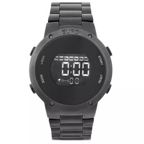 1db5f23c95d Relógio Feminino Euro EUBJ3279AB 4P Digital Aço Preto - Relógio ...