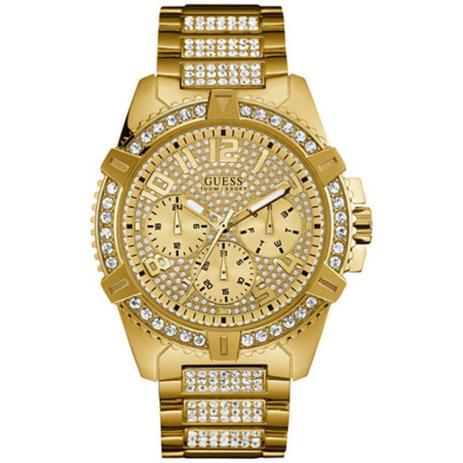 4dd37b3876c Relógio Feminino Guess Modelo U0799g2 - Banhado A Ouro   A Prova D Água