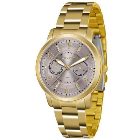 074642ed08d Relógio Feminino Lince Analógico LMGJ070l N2KX - Dourado - Relógio ...