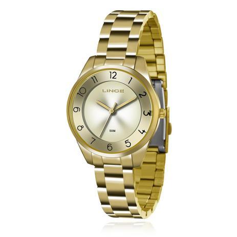 Relógio Feminino Lince Analógico LRG4376L C1KX Dourado - Relógio ... 95cd079491