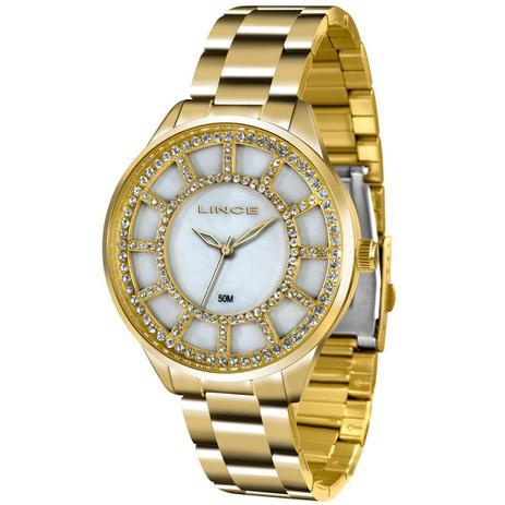 834b0f520a5 Relógio Feminino Lince Analógico LRG4378L B1KX Dourado - Relógio ...