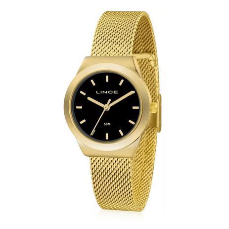 19892edf91a Relógio Feminino Lince Analógico LRG4493L P1KX Fundo Preto - Relógio ...