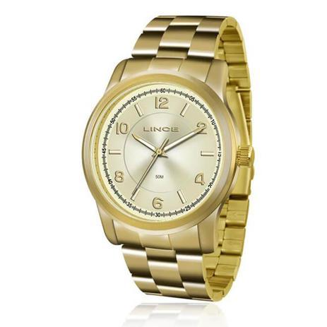 87aba0f971b Relógio Feminino Lince Analógico LRGJ066L C2KX Dourado - Relógio ...