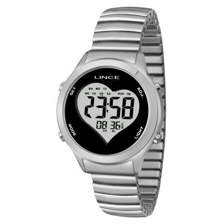5697fcc50ce Relogio Feminino Lince Digital prata SDPH063L - Relógio Feminino ...