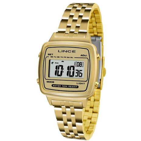 ee68c16d245 Relógio Feminino Lince Digital Sdph041l Bckx Dourado - Relógio ...