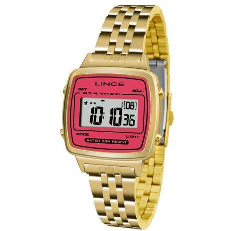 0536e6a1a69 Relógio Feminino Lince Digital Sdph043l Brkx Dourado - Relógio ...