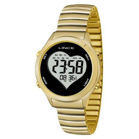 e51b4f1c838 Relógio Feminino Lince Digital SDPH065L BPKX - Dourado - Relógio ...