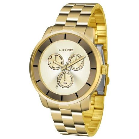 8b3a9f4c2ae Relógio Feminino Lince LMG4478L C1KX - Dourado - Relógio Feminino ...
