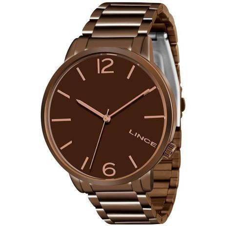 6763b66accb Relógio Feminino Lince LRBJ043L-N2NX 42 mm Aço Marrom - Relógio ...