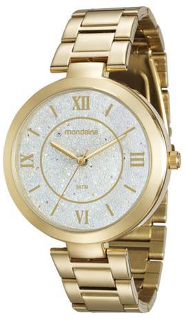 5fb722dfc8f Relógio Feminino Mondaine 76615LPMVDE1 42mm Pulseira Aço Dourado ...
