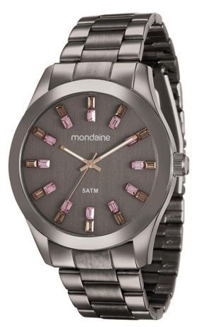 ba158ba439f Relógio Feminino Mondaine 78663LPMVMA6 43mm Aço Marrom - Relógio ...