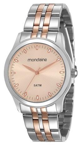 Relógio Feminino Mondaine 78745LPMVGA2 37mm Aço Bicolor Prata Rose ... 7dd8d34ff9