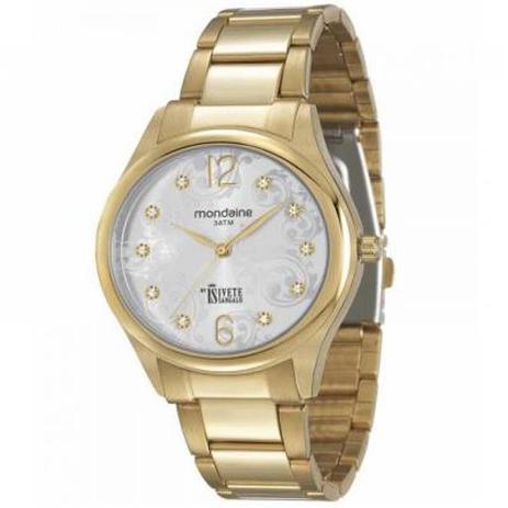 3198549d610 Relógio Feminino Mondaine Ivete Sangalo Analógico 12012LPMVDE1 Dourado