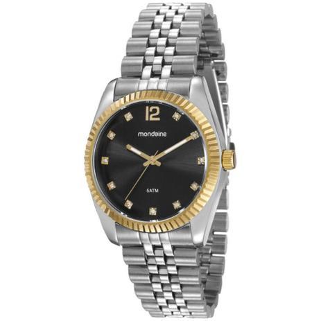 8a1a601262d Relógio feminino mondaine prateado estilo rolex 99175LPMVBS4 ...