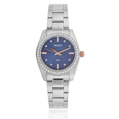 b6f879501e9 Relógio Feminino Orient Analógico FBSS0058 D1SX Fundo Azul - Relógio ...