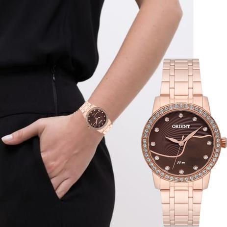 Imagem de Relógio Feminino Orient Rosê Aço Inoxidável Wr Frss0018 M1rx