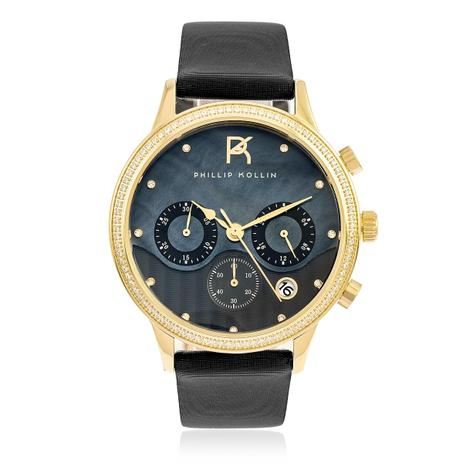 c154ab8756b Relógio Feminino Phillip Kollin Santorini ZY28001P Gold Black ...