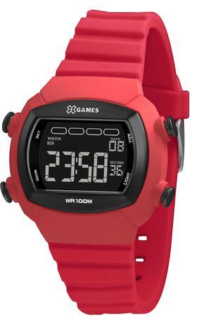 Imagem de Relógio Feminino Quadrado Digital A Prova D'água Rosa Silicone Com Alarme e Cronômetro X-Games Original e Nota Fiscal