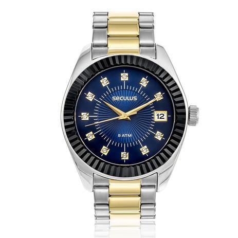eb9849cb864 Relógio Feminino Seculus Analógico 13019LPSVBS5 Aço Misto - Relógio ...