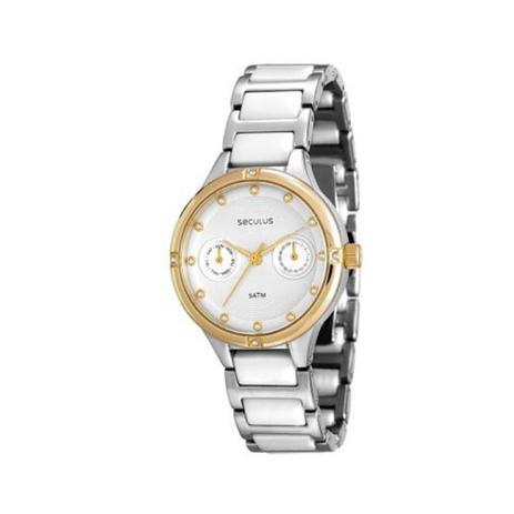 b3bf8b88bff Relógio Feminino Seculus Analógico - 20375LPSVBQ1 - Prata Dourado ...